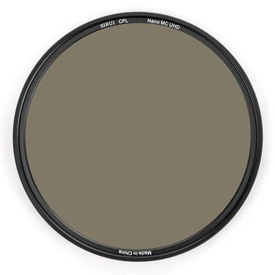 SIRUI CPL82A Polfilter 82mm Ultra Slim Nano MC zirkular Polfilter Aluminium schwarz, Schottglas