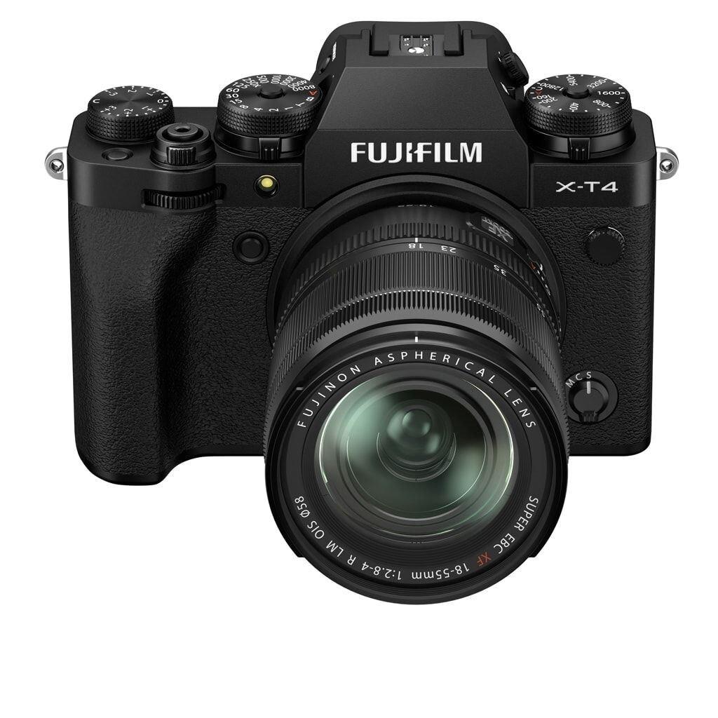 Fujifilm X-T4 schwarz inkl. XF 18-55mm 1:2,8-4,0 R LM OIS + EF-X8 Blitzgerät