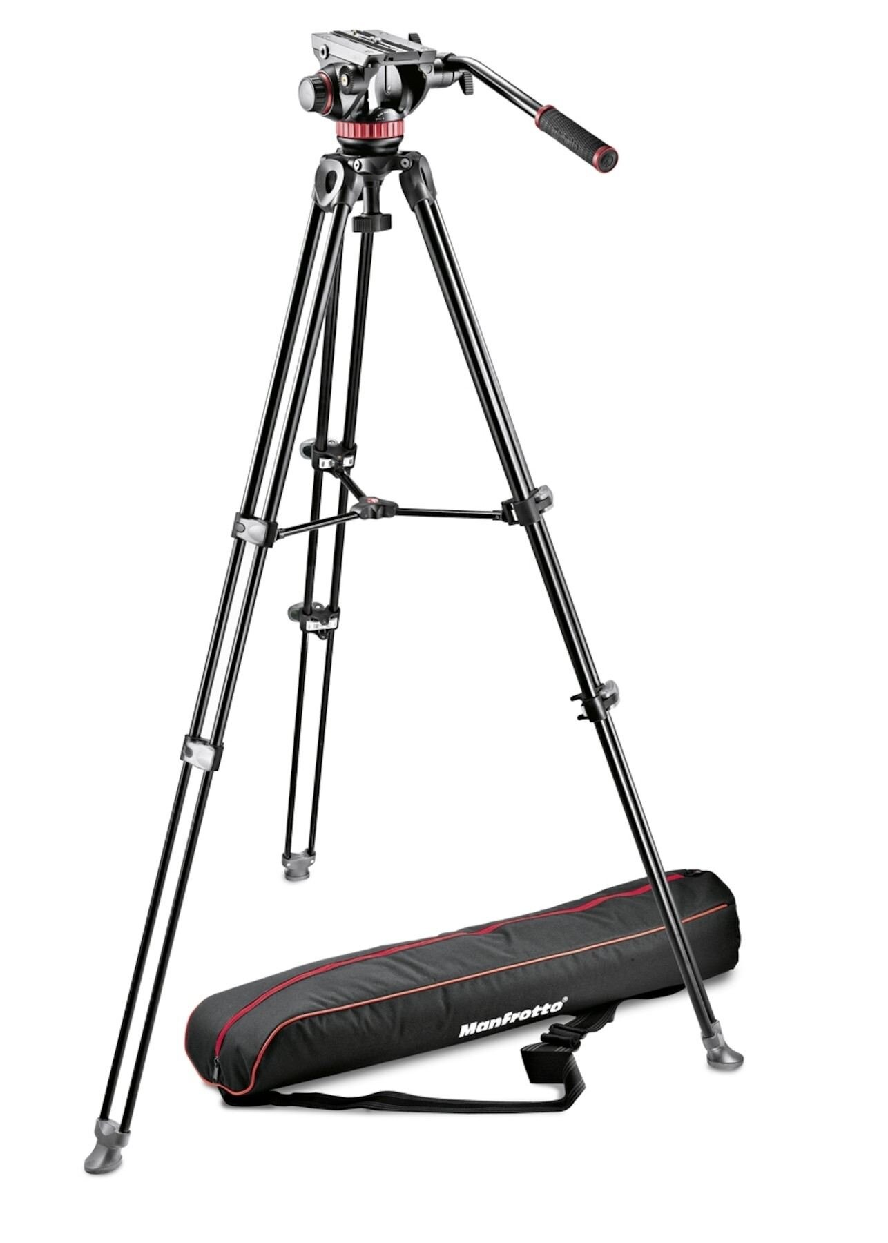Manfrotto Stativ Video Set MVH500A + MVT502AM + Tasche