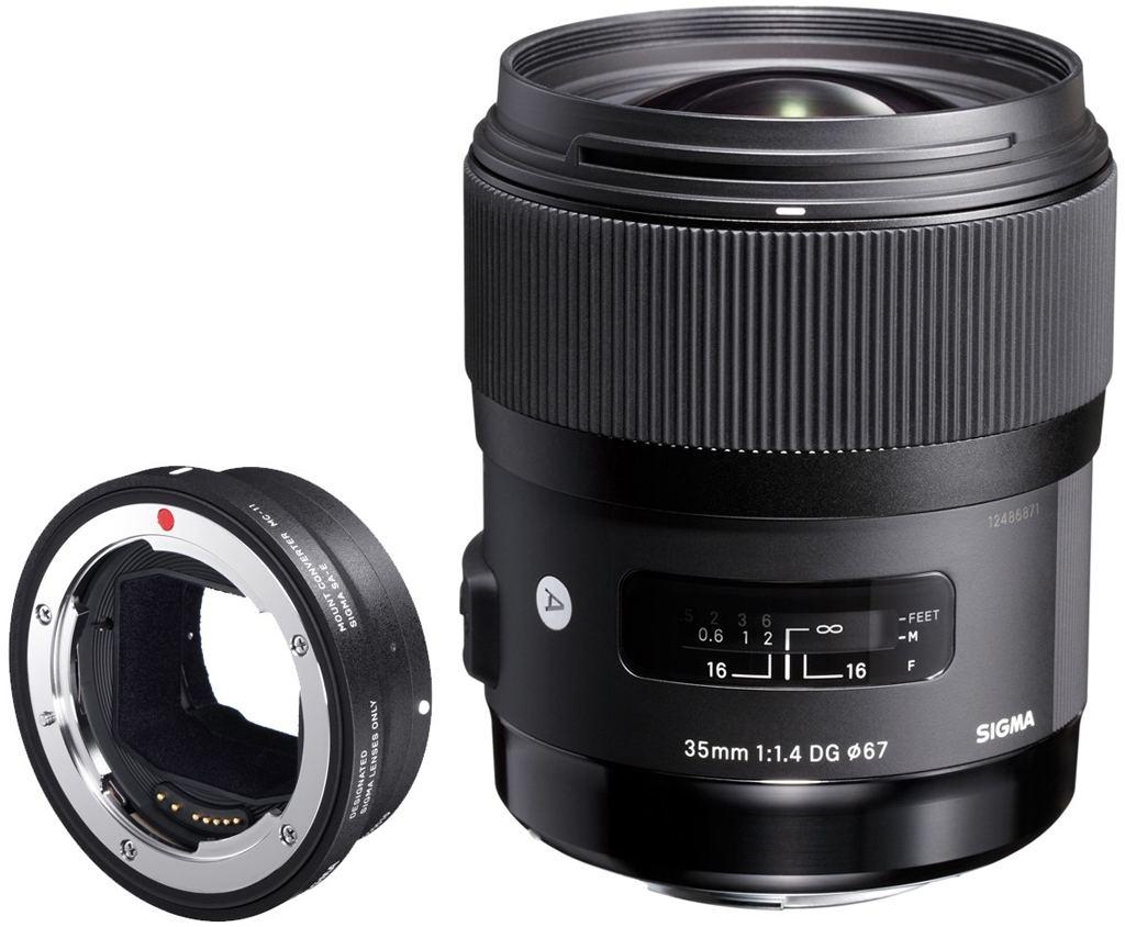 Sigma 35mm 1:1,4 DG HSM Art für Canon EF + Sigma MC-11 Objektivadapter für Sony E-Mount