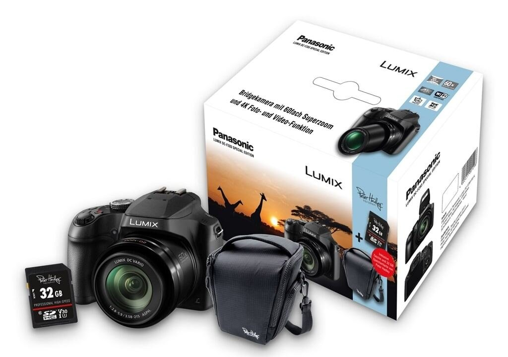 Panasonic LUMIX DC-FZ83 Special Kit inkl. 32GB SDHC Speicherkarte und Tasche