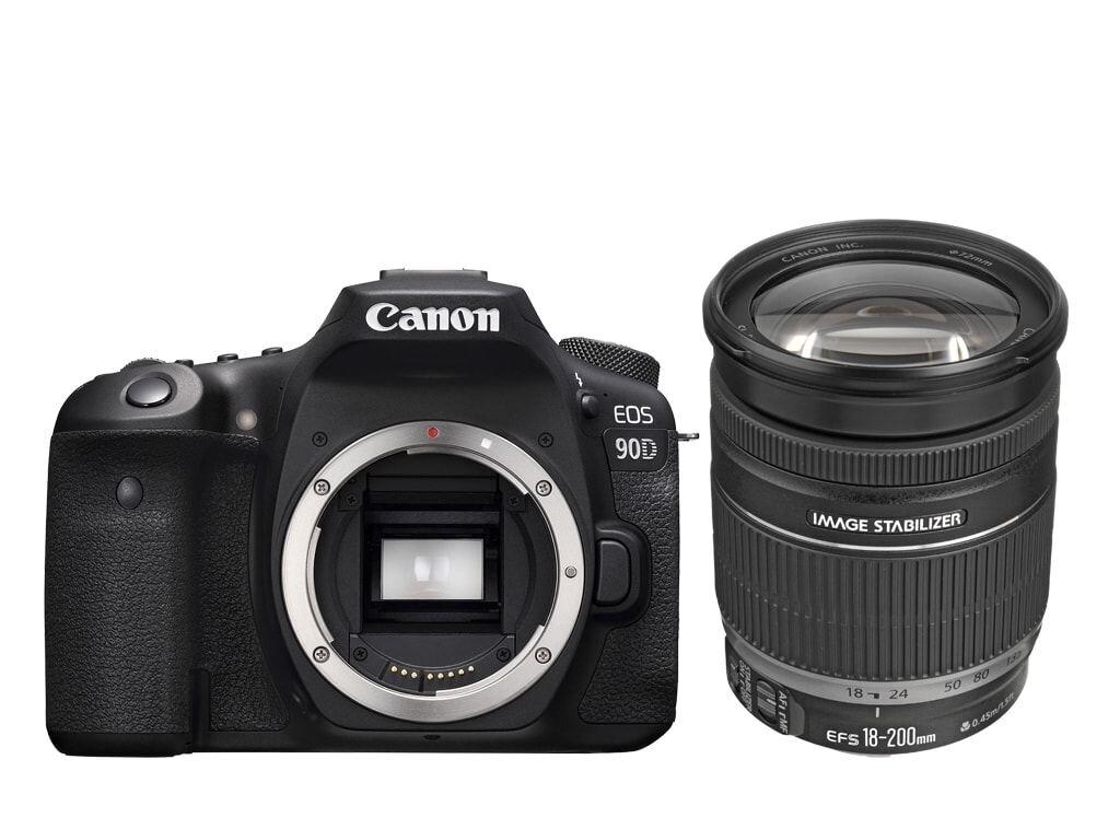 Canon EOS 90D + EF-S 18-200mm 1:3,5-5,6 IS *Gutscheinaktion* 100€ Rabatt mit Gutscheincode: EOS100
