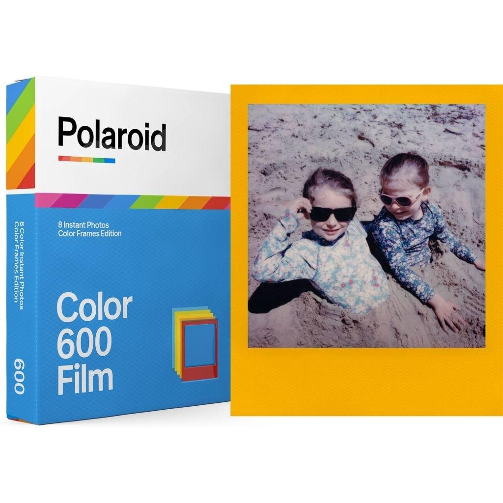 Polaroid Color 600 Sofortbildfilm mit verschiedenen farbigen Rahmen