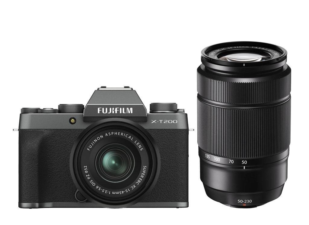 Fujifilm X-T200 Dunkelsilber inkl. XC 15-45mm 1:3,5-5,6 OIS PZ + Fujifilm XC 50-230mm 1:4,5-6,7 OIS II