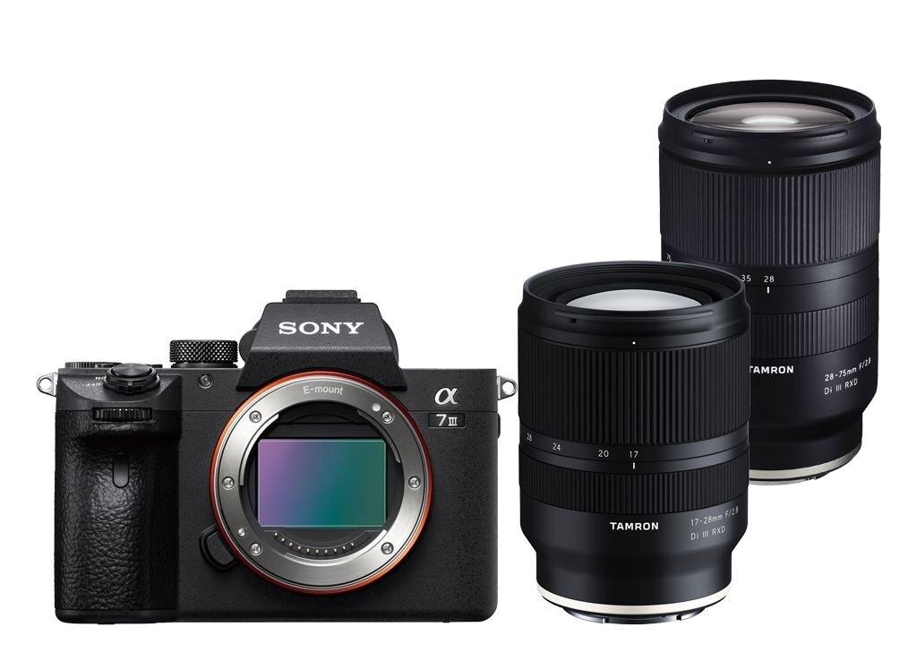 Sony alpha 7 III (ILCE7M3B) + Tamron 17-28mm 1:2,8 Di III RXD + Tamron 28-75mm 1:2,8 Di III RXD