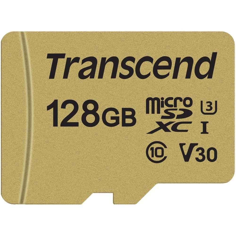 Transcend microSDXC Karte 128GB 500S UHS-I U3 V30 95/60MBs