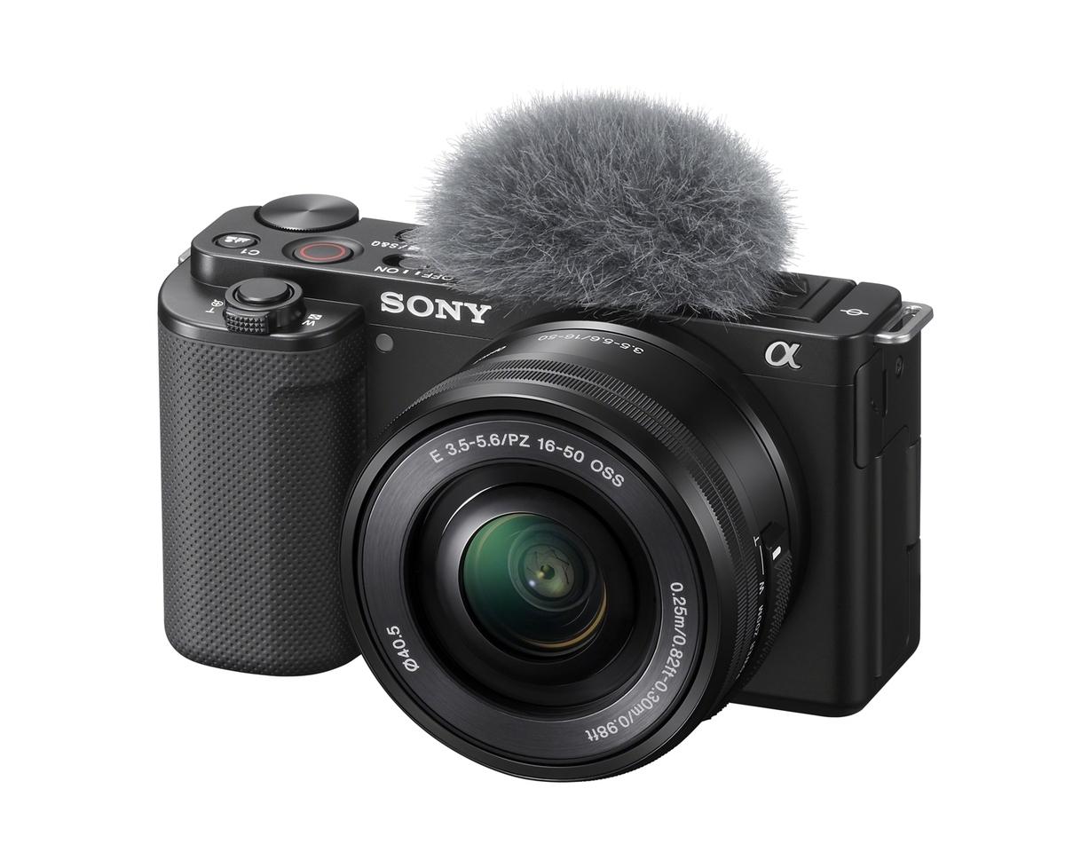 Sony Alpha ZV-E10 schwarz inkl. Sony E PZ 16-50mm 1:3,5-5,6 OSS inkl. SanDisk 128 GB SDXC ExtremePro 170MB/s V30 UHS-I U3 Speicherkarte