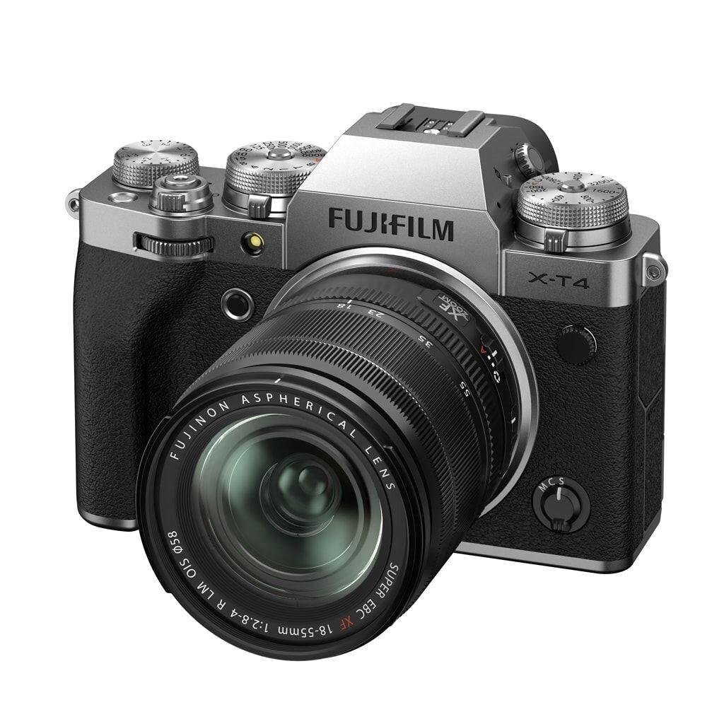 Fujifilm X-T4 silber inkl. XF 18-55mm 1:2,8-4,0 R LM OIS + EF-X8 Blitzgerät