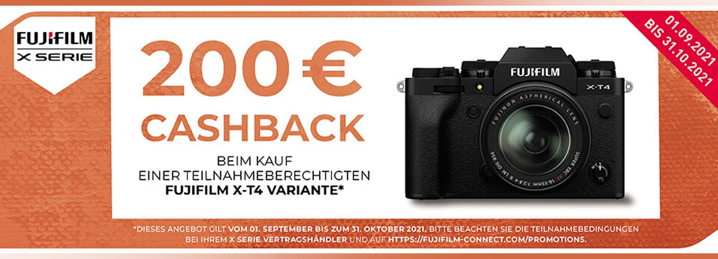 Fujifilm X-T4 Cashback-Aktion bei Fotomax 2021