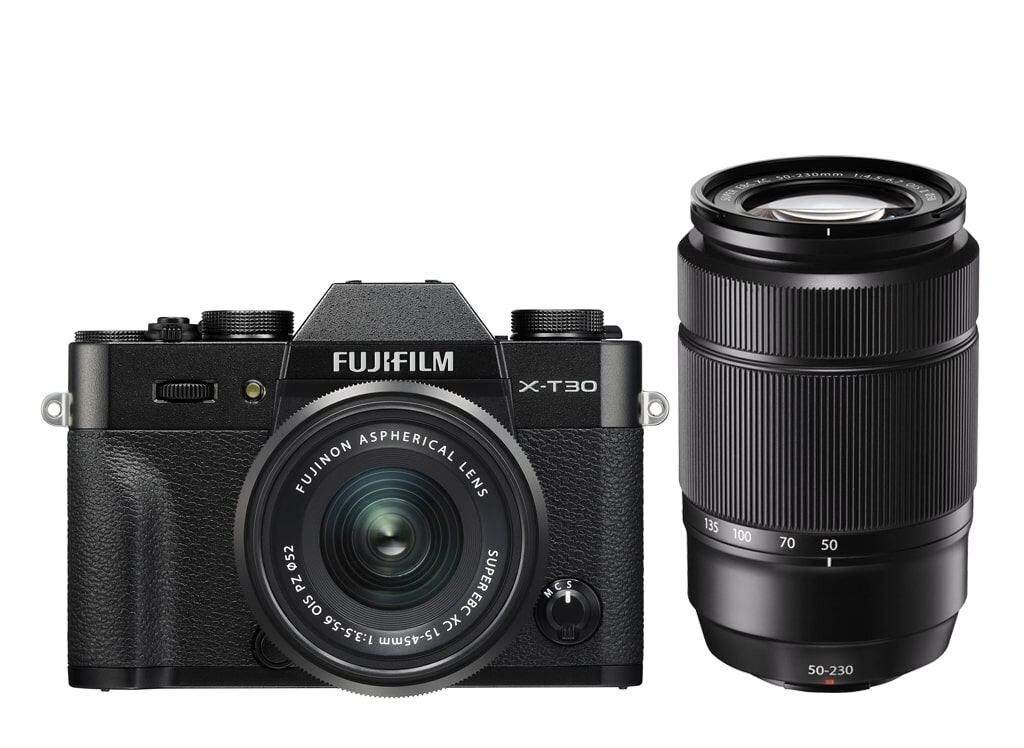 Fujifilm X-T30 schwarz inkl. XC 15-45mm 1:3,5-5,6 OIS PZ & XC 50-230mm 1:4,5-6,7 OIS II