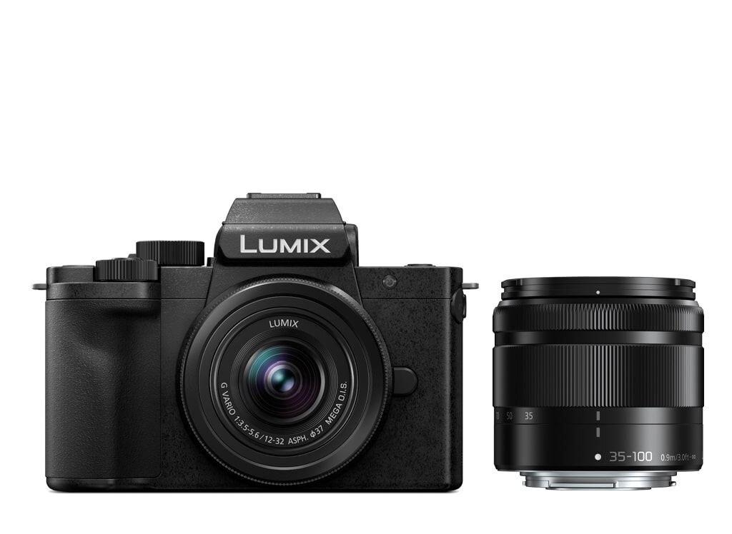 Panasonic LUMIX DC-G110 schwarz + 12-32mm 1:3,5-5,6 G VARIO MEGA O.I.S. + 35-100mm 1:4,0-5,6 G VARIO MEGA O.I.S (DC-G110WEG-K)