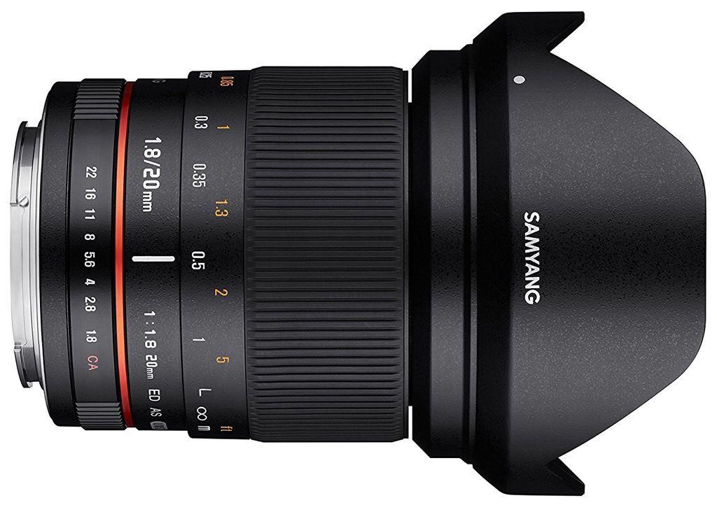 Samyang 20mm 1:1,8 ED AS UMC Sony E-Mount