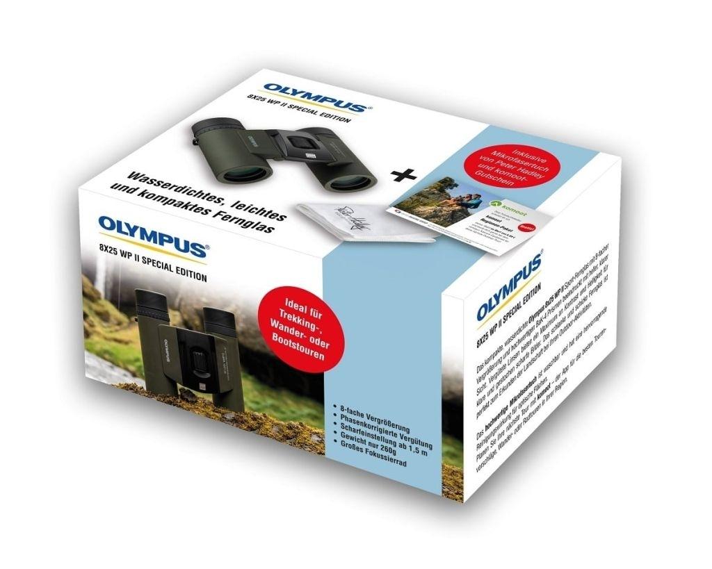 Olympus 8x25 WP II waldgrün Special Edition Fernglas mit PH Tuch + Gutschein