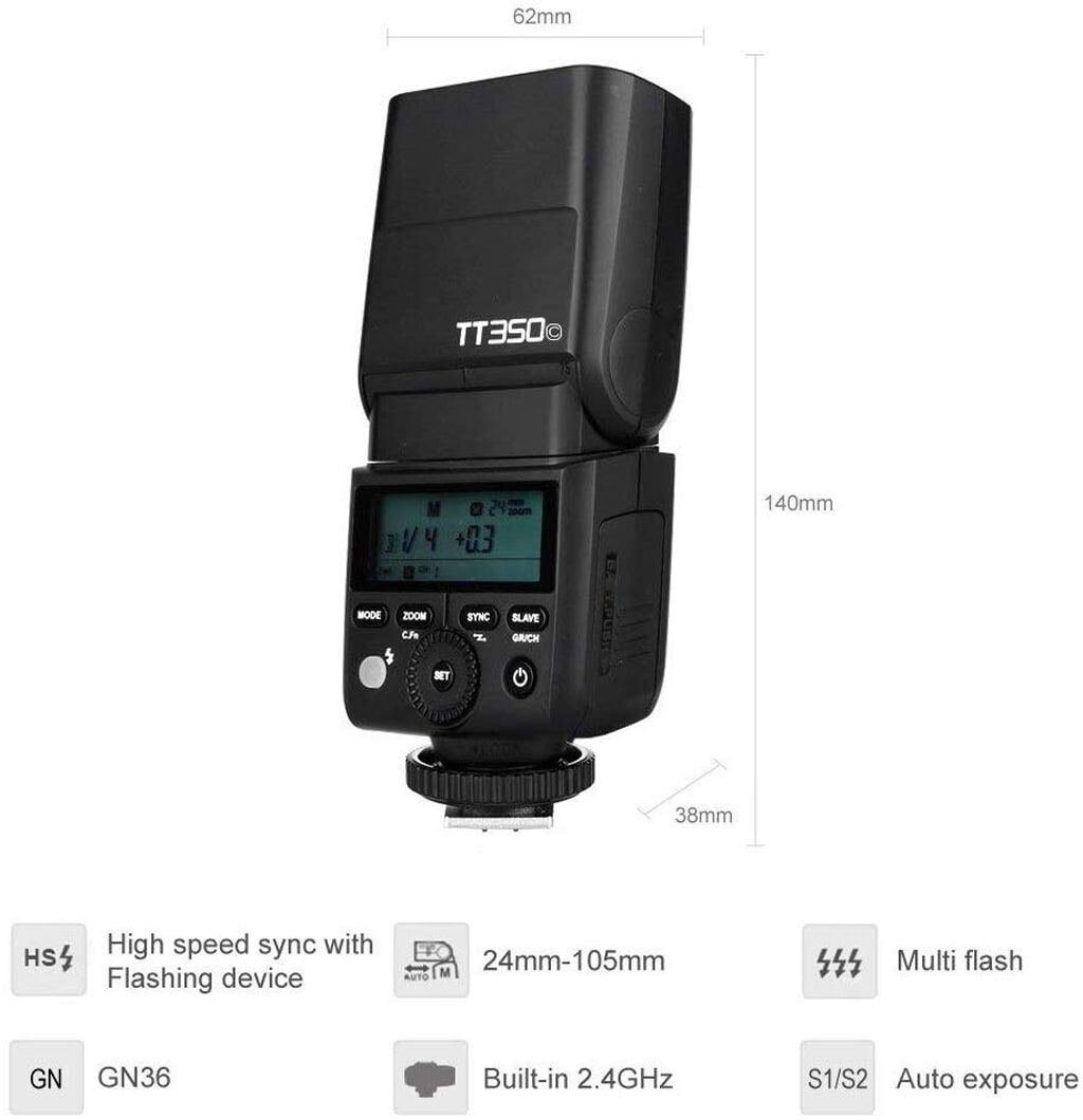 GODOX TT350O Blitzgerät für Olympus / Panasonic