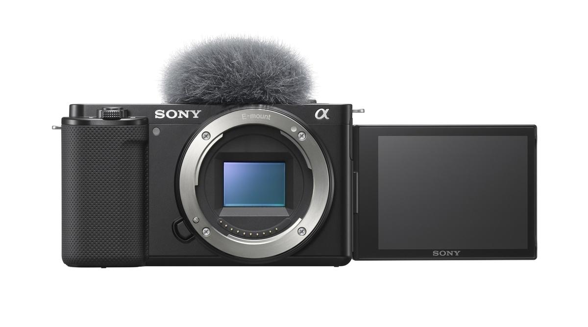 Sony Alpha ZV-E10 Body schwarz + Sony ECM-W2BT Mikrofon