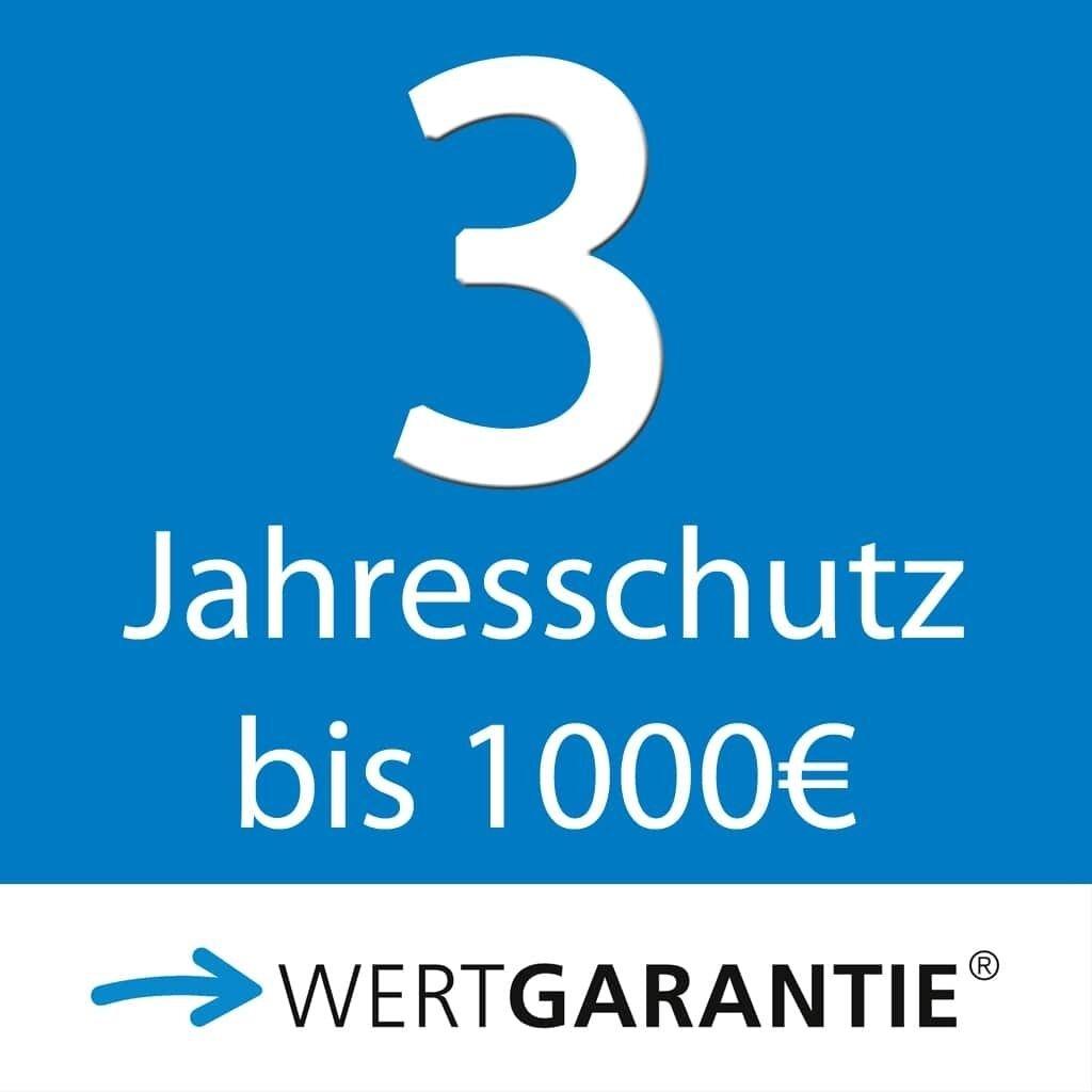 Wertgarantie 3 Jahresschutz bis 1000,- Euro