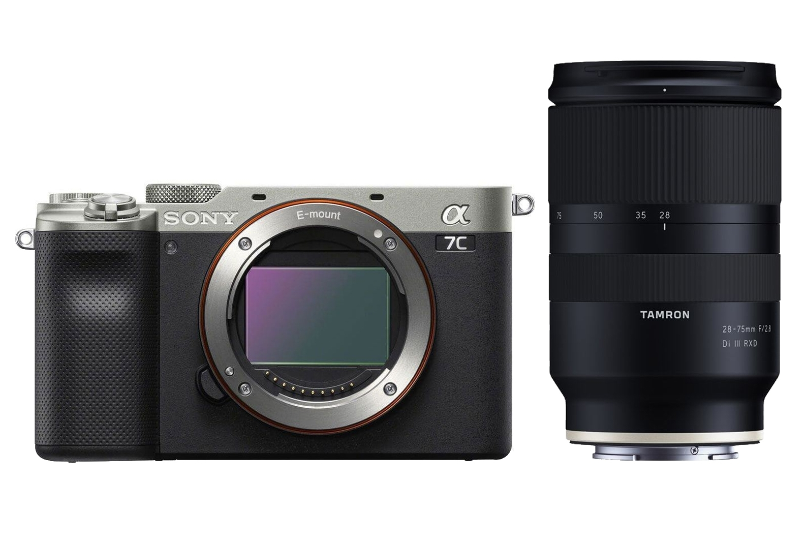 Sony Alpha 7C (ILCE7CS) silber inkl. Tamron 28-75mm 1:2,8 Di III RXD