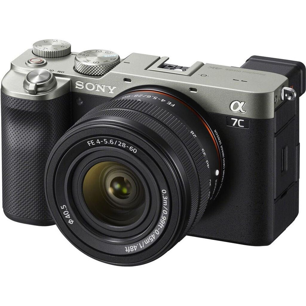 Sony alpha 7C (ILCE7CLS) silber inkl. FE 28-60mm 1:4-5,6