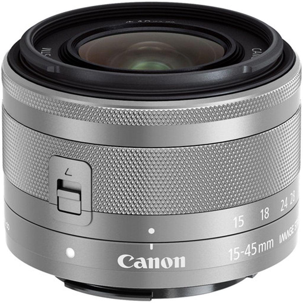 Canon EF-M 15-45mm 1:3,5-6,3 IS STM silber aus Set