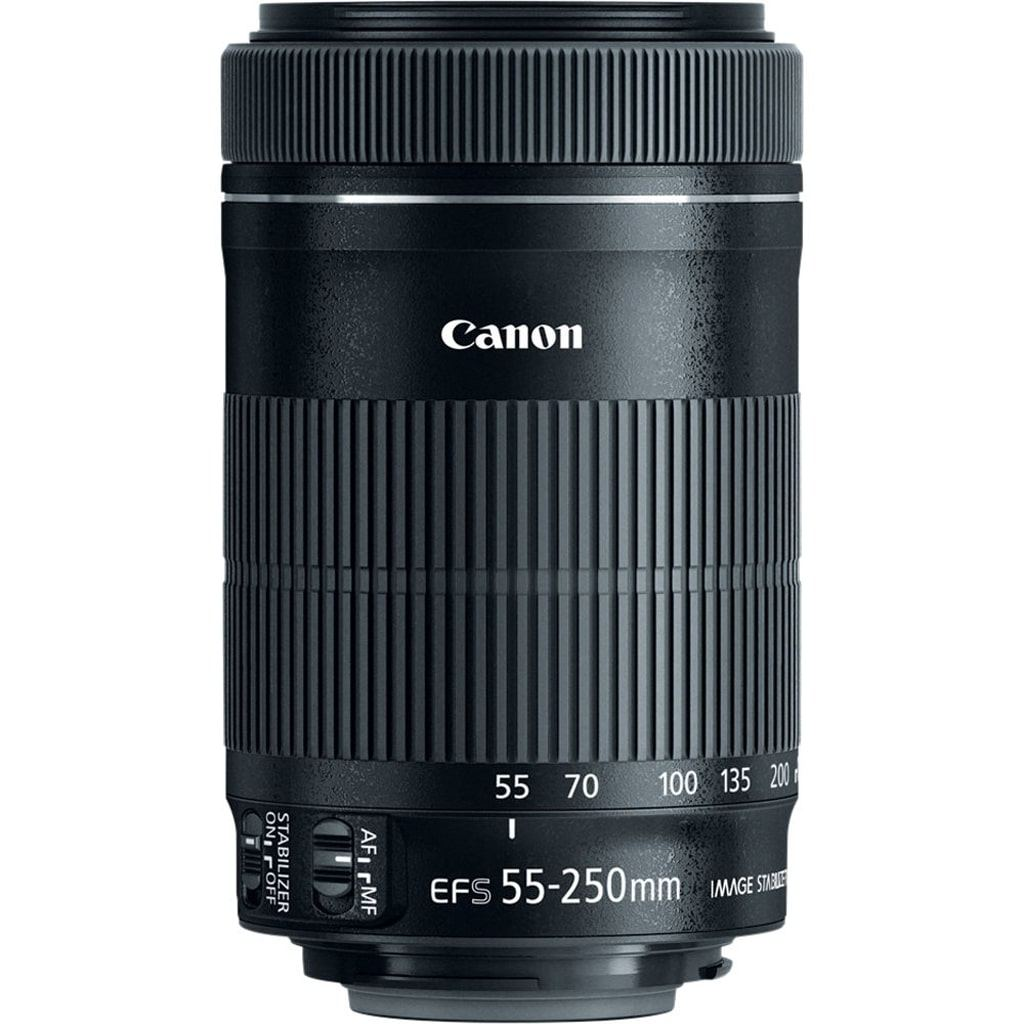 Canon EF-S 55-250mm 1:4,0-5,6 IS STM aus Set