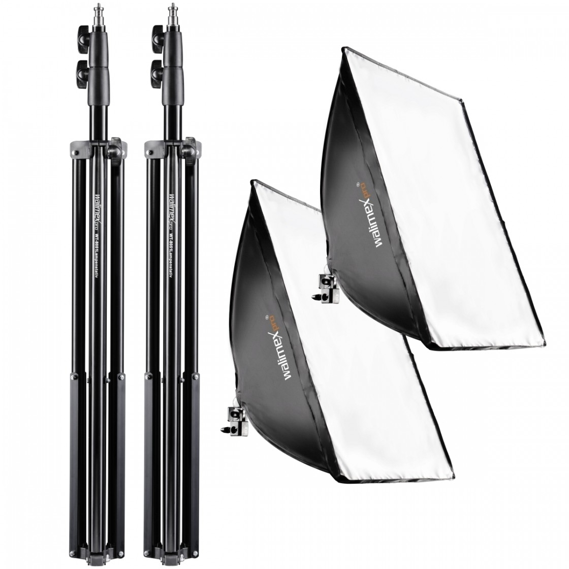 Walimex 2er Set Daylight 250 +  Softbox 40x60cm + Stativ