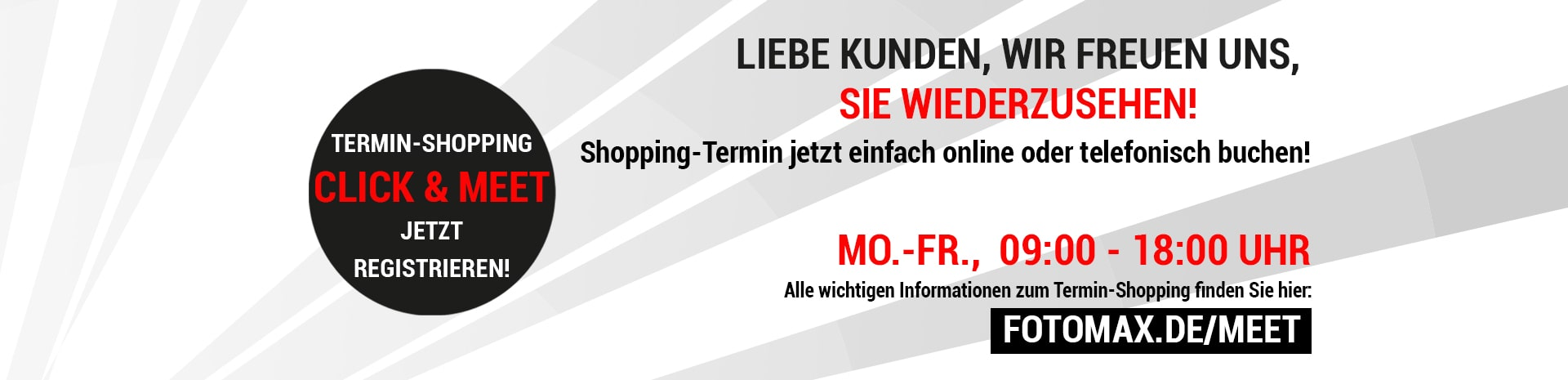 Click and Meet - Online Terminreservierung Fotomax Shopping