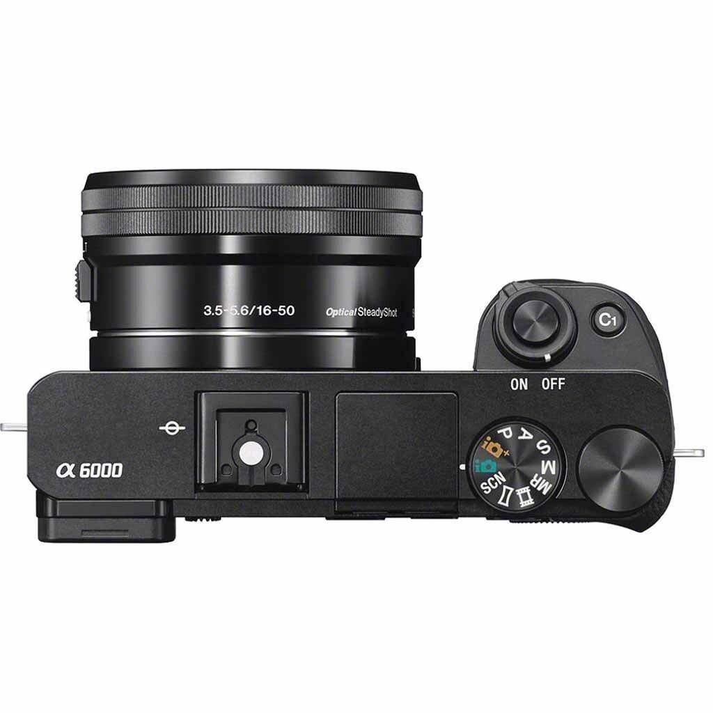 Sony alpha 6000 schwarz DZ Kit inkl. E PZ 16-50mm 1:3,5-5,6 OSS und E 55-210mm 1:4,5-6,3 OSS