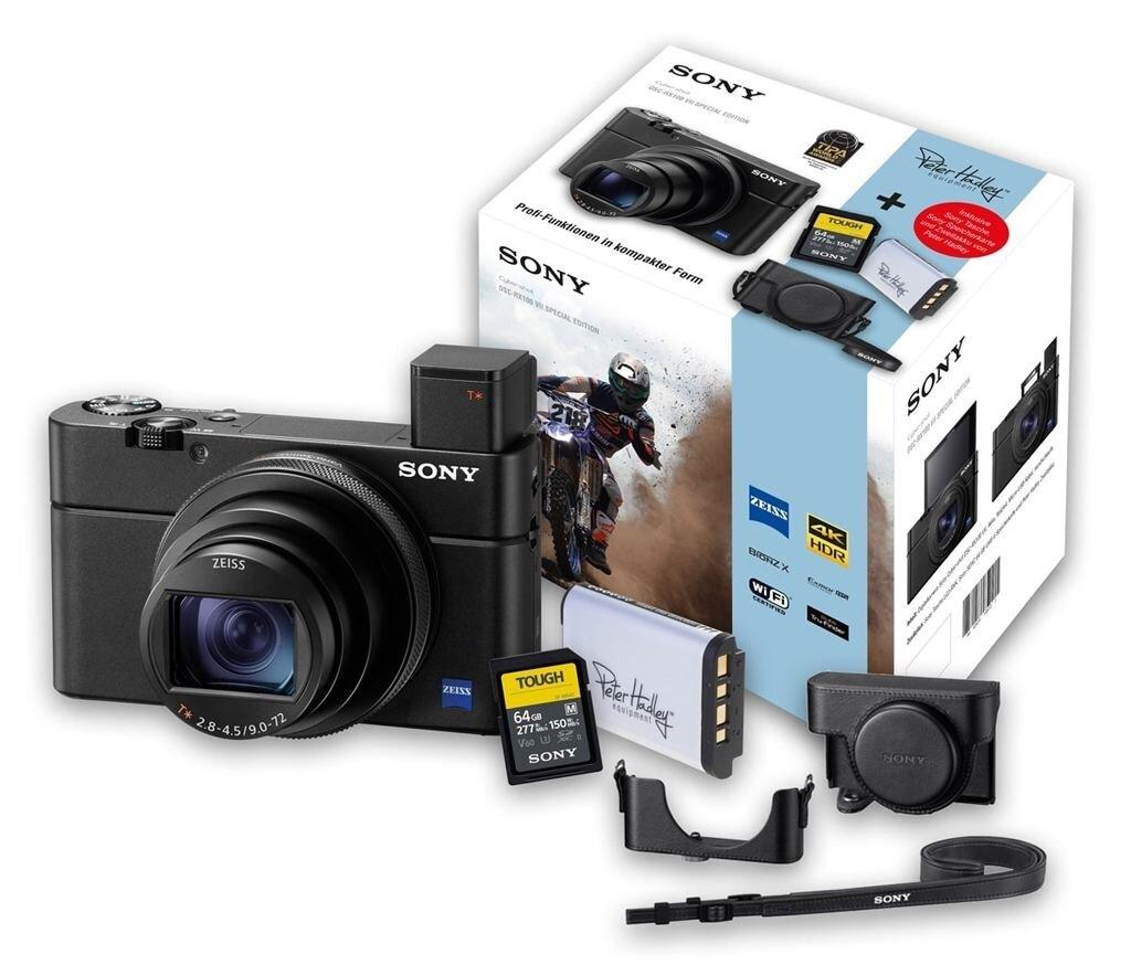 Sony DSC-RX100 VII (DSCRX100M7) Special Edition inkl. Ersatzakku + 64GB Speicherkarte und Tasche LCJ-RXK