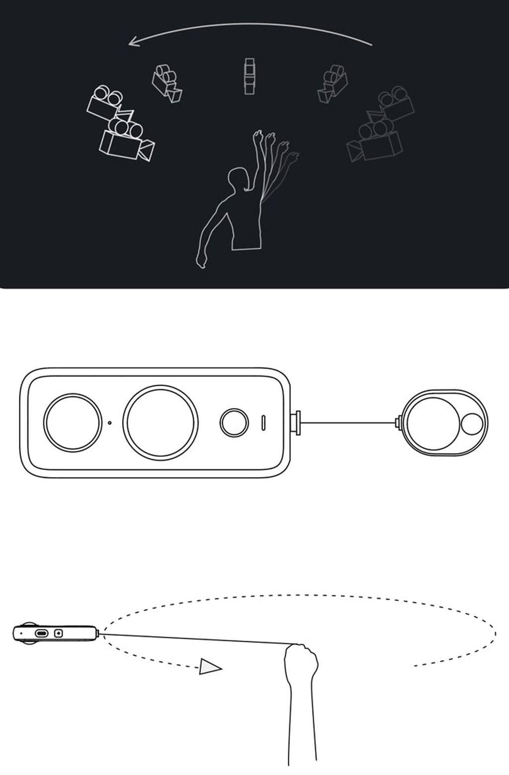 INSTA360 ONE X2 Bullet Time Cord Ausziehschnur