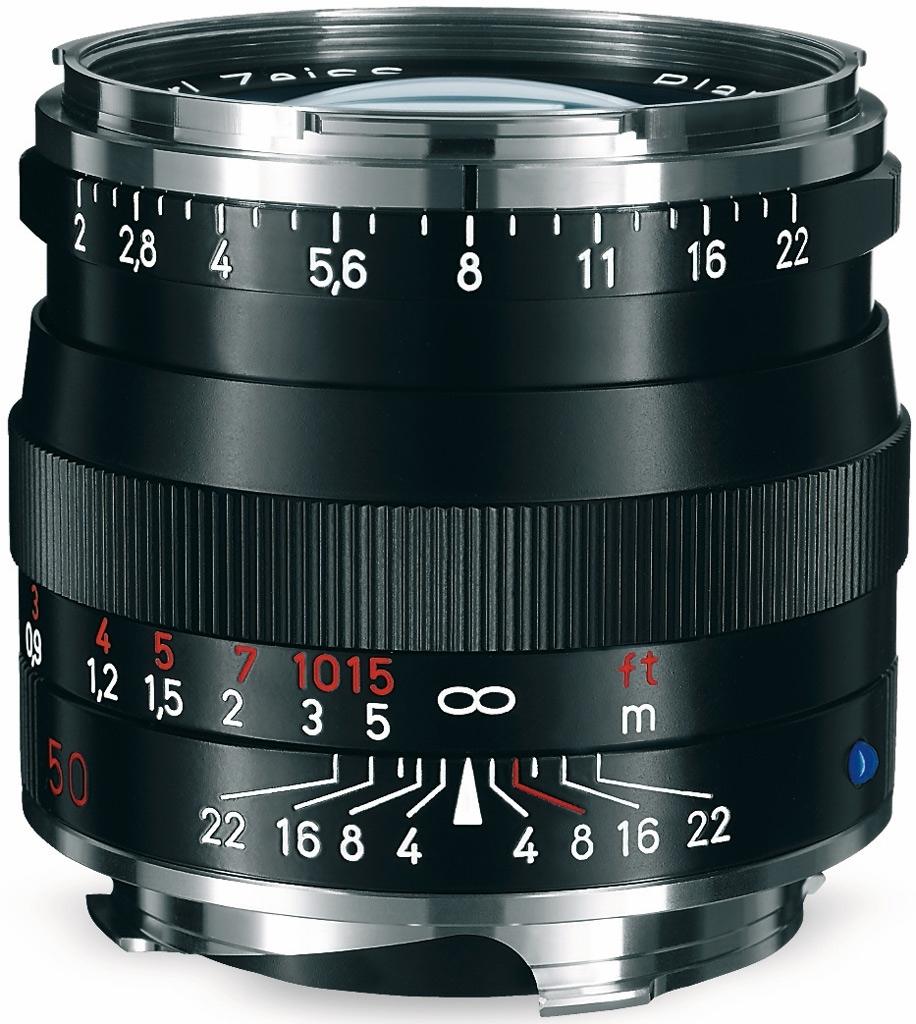 ZEISS Planar T* 50mm 1:2,0 ZM f. Leica M schwarz