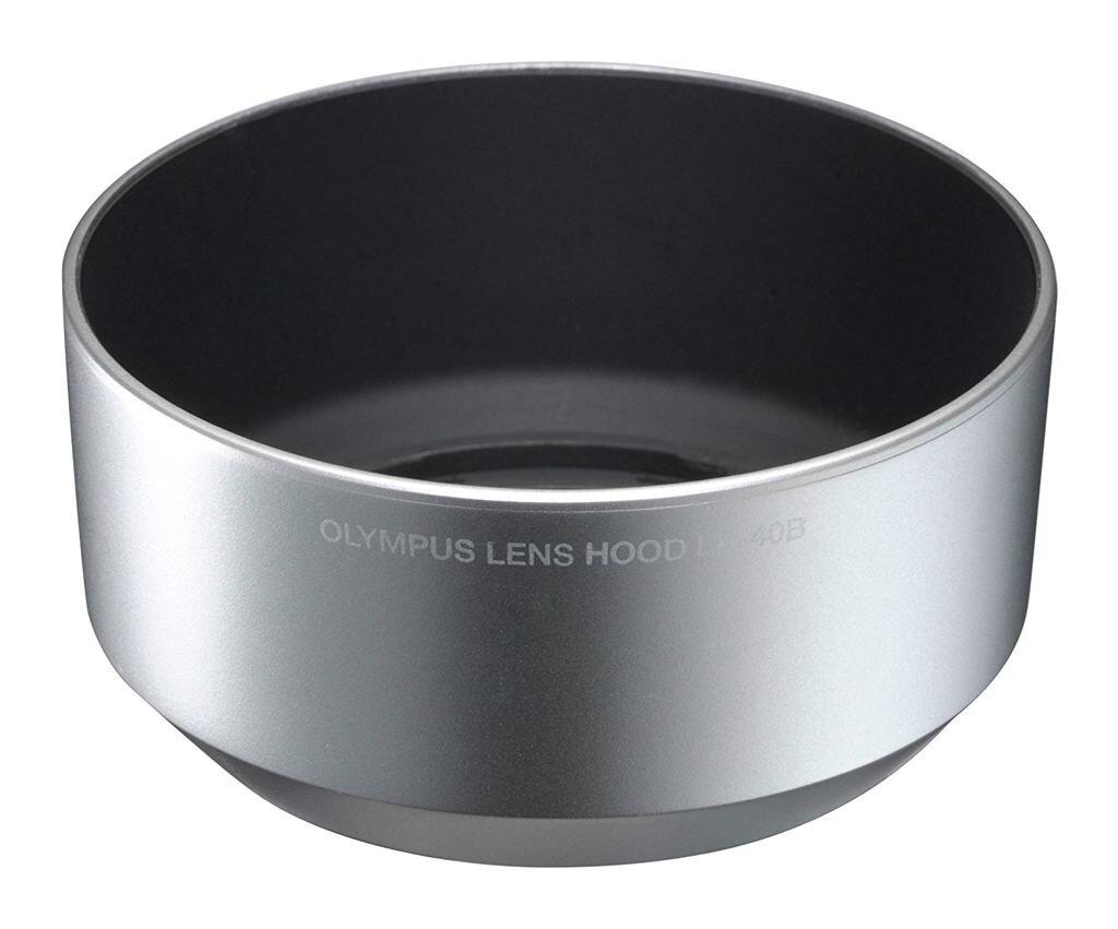 Olympus Gegenlichtblende LH-40B silber für 45mm 1:1,8
