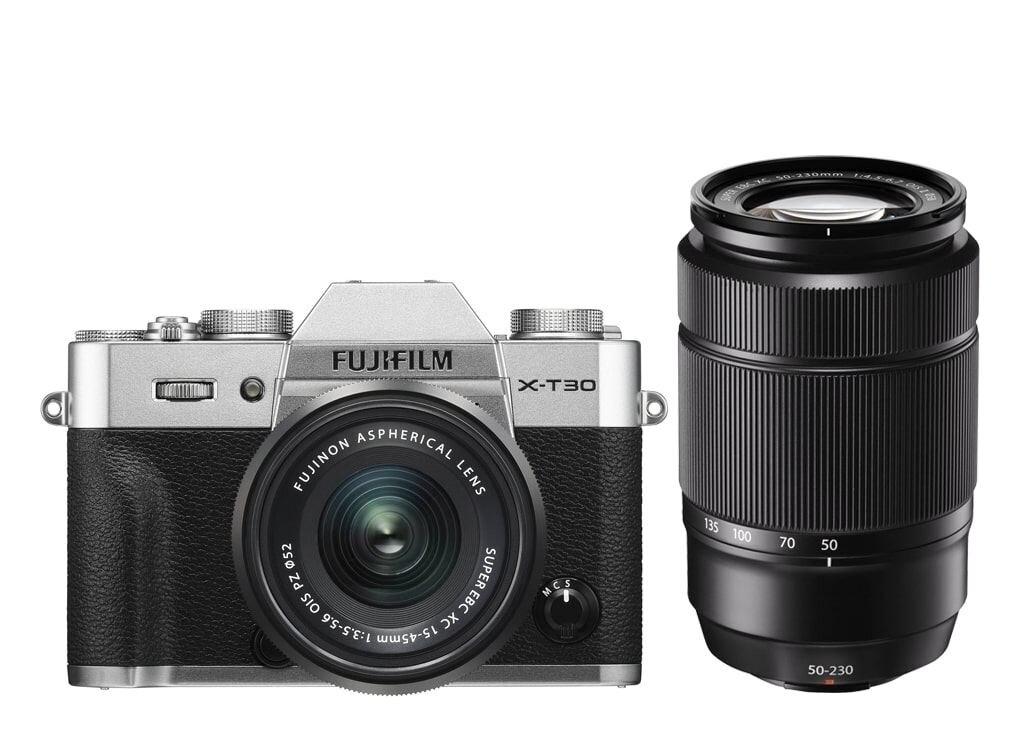Fujifilm X-T30 silber inkl. XC 15-45mm 1:3,5-5,6 OIS PZ & XC 50-230mm 1:4,5-6,7 OIS II