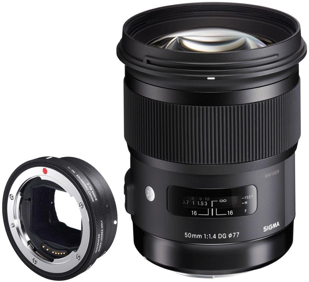 Sigma 50mm 1:1,4 DG HSM Art für Canon EF + Sigma MC-11 Objektivadapter für Sony E-Mount