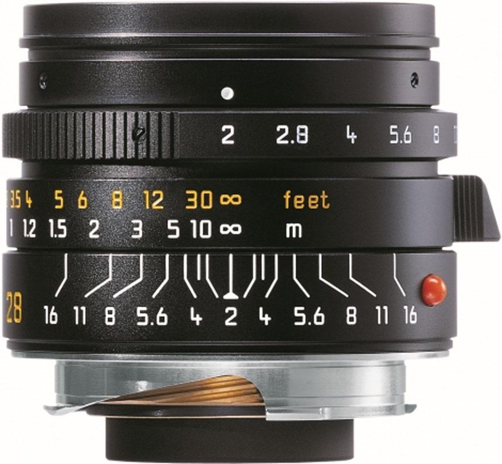 LEICA SUMMICRON-M 2/28mm ASPH., schwarz eloxiert 11672