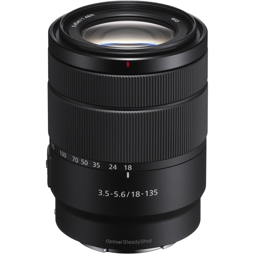 Sony SEL 18-135mm 1:3.5-5.6 OSS (SEL18135) E-Mount aus Set