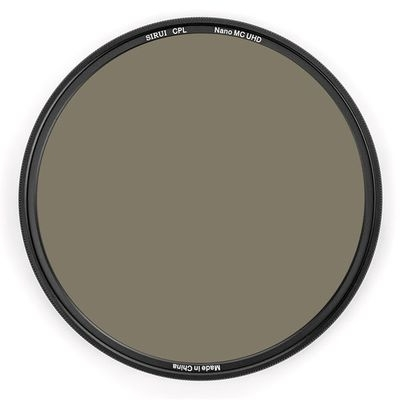 SIRUI CPL62A Polfilter 62mm Ultra Slim Nano MC zirkular Polfilter Aluminium schwarz, Schottglas