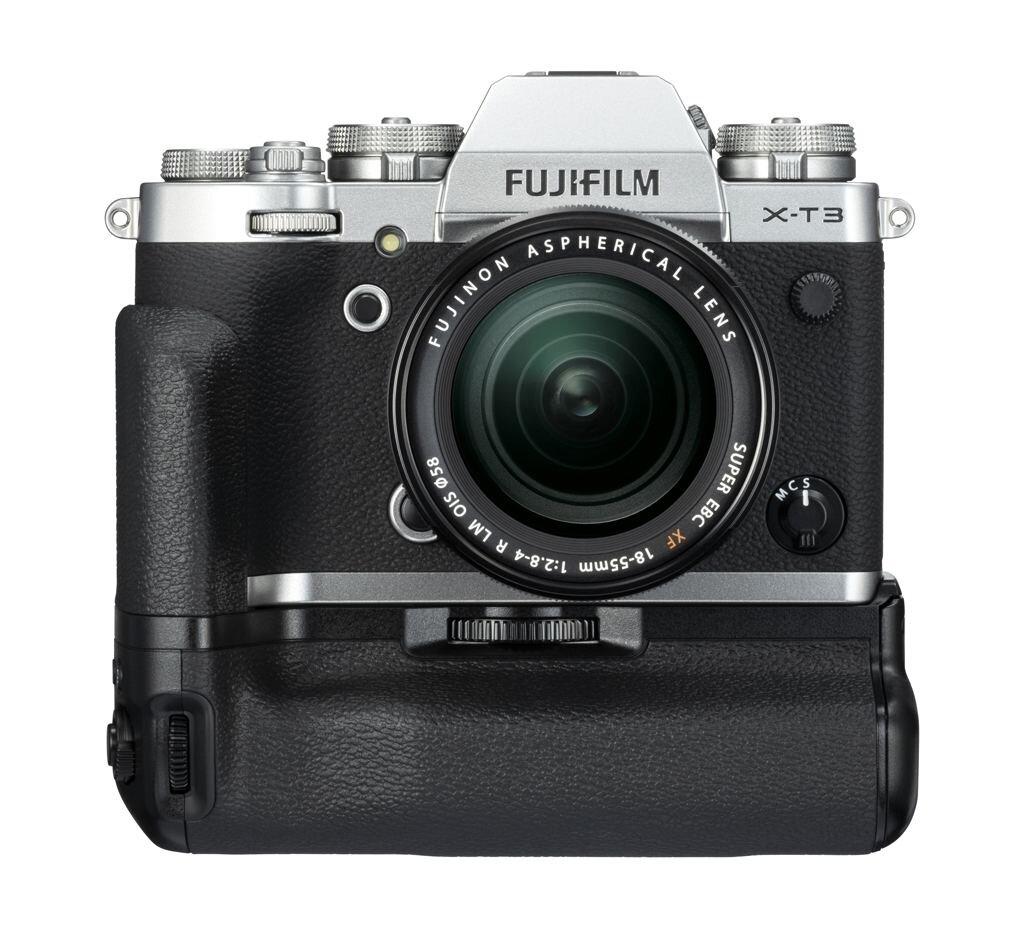 Fujifilm X-T3 silber inkl. XF 18-55mm 1:2,8-4,0 R LM OIS + Batteriegriff VG-XT3