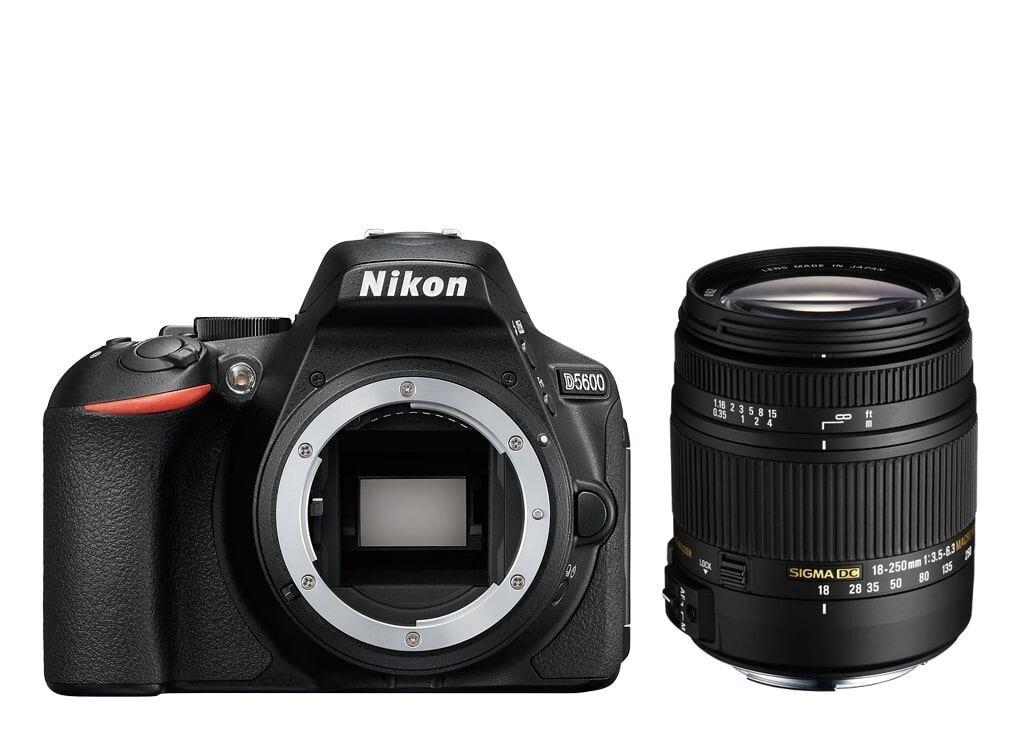 Nikon D5600 + Sigma 18-250mm 1:3,5-6,3 DC Makro OS HSM