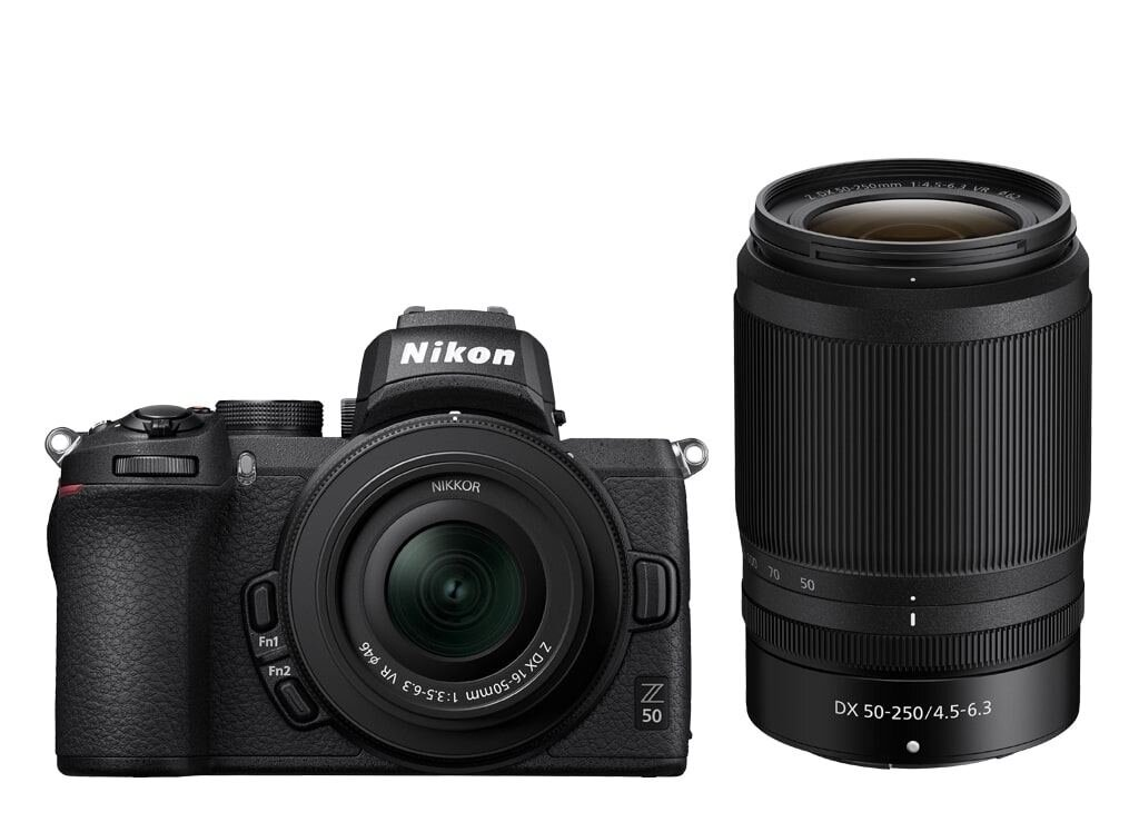 Nikon Z50 + NIKKOR Z DX 16-50mm 1:3,5-6,3 VR + NIKKOR Z DX 50-250mm 1:4,5-6,3 VR