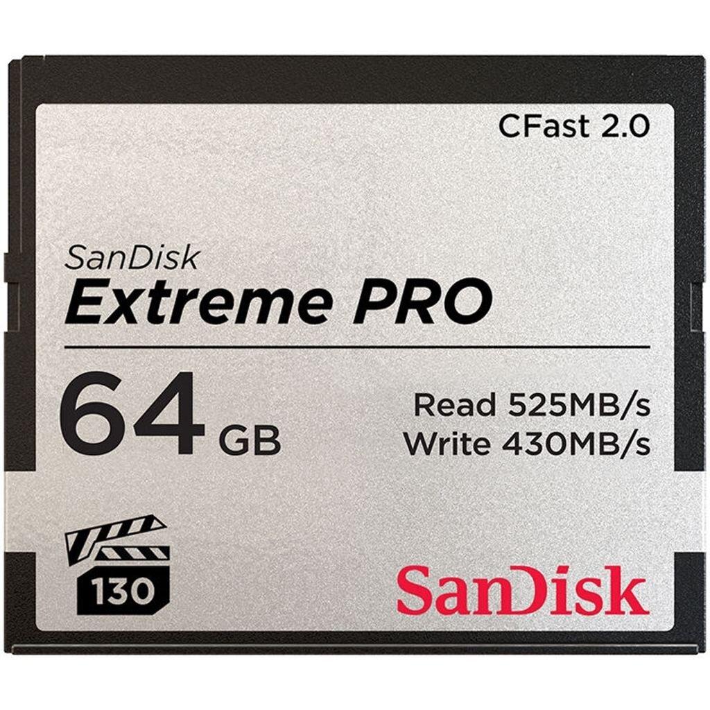 SanDisk Extreme Pro 64GB CFast-Karte 2.0 525 MB/s