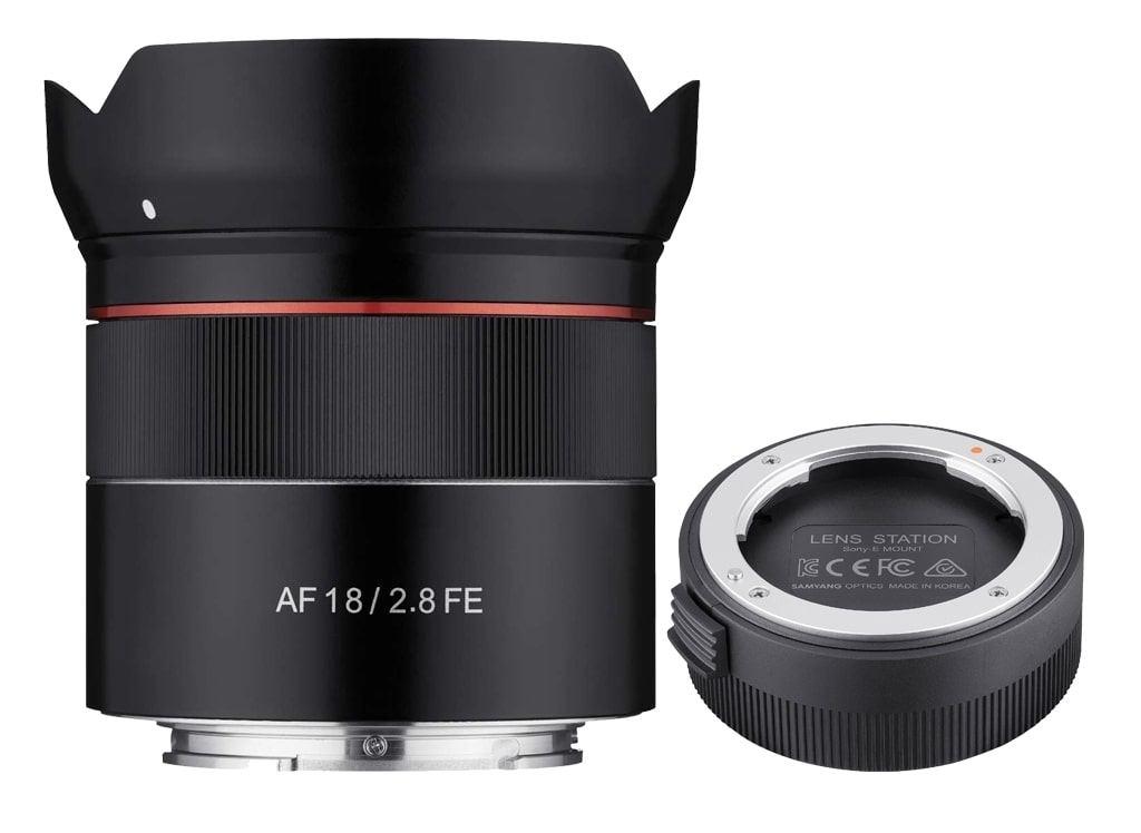 Samyang AF 18mm 1:2,8 FE inkl. Lens Station für Sony E