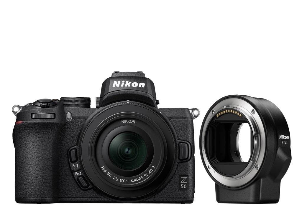 Nikon Z50 + NIKKOR Z DX 16-50mm 1:3,5-6,3 VR + FTZ Objektivadapter