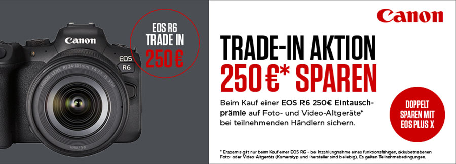Canon EOS R6 Trade-In Aktion bis 16.05.2021 bei Fotomax