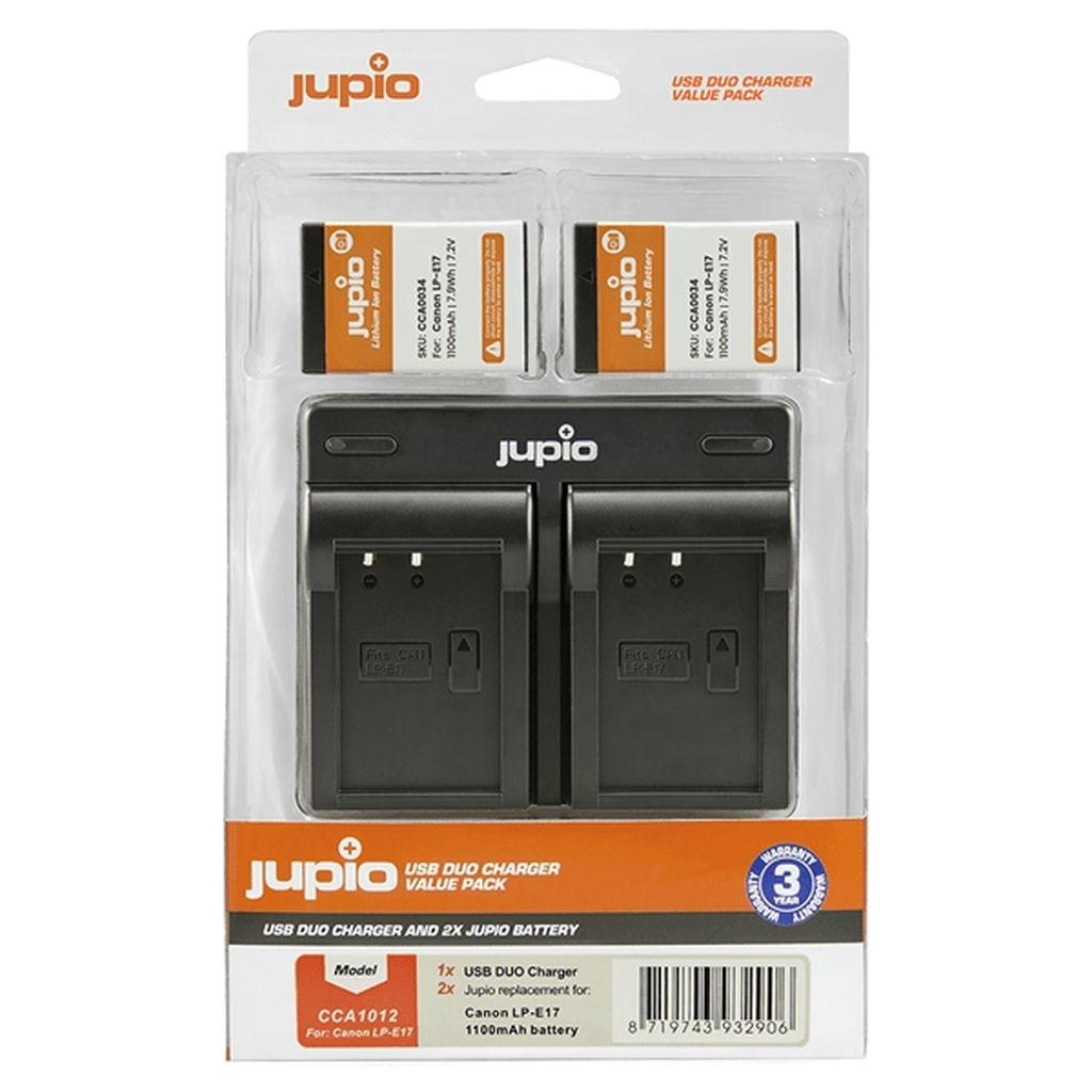 Jupio Value Pack Canon 2 x LP-E17 + Doppelladegerät