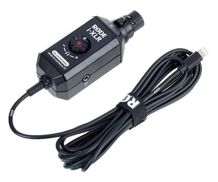 Rode i-XLR, XLR-auf-Lightning-Interface Aufsteckadapter f. Kondensatormikrofone