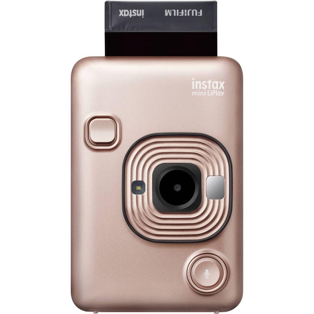 Fujifilm Instax LiPlay blush gold Set Sofortbildkamera + Kabel + Neckstrap + Socke