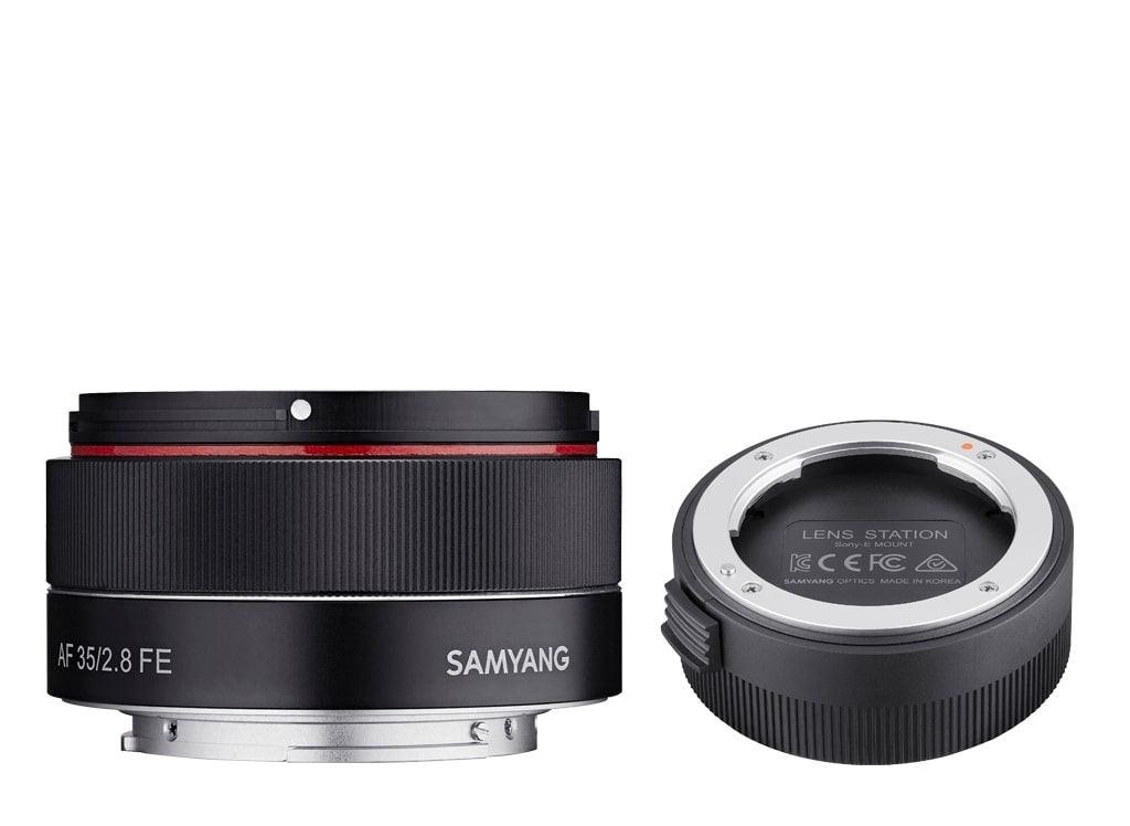 Samyang AF 35mm 1:2,8 FE inkl. Lens Station für Sony E
