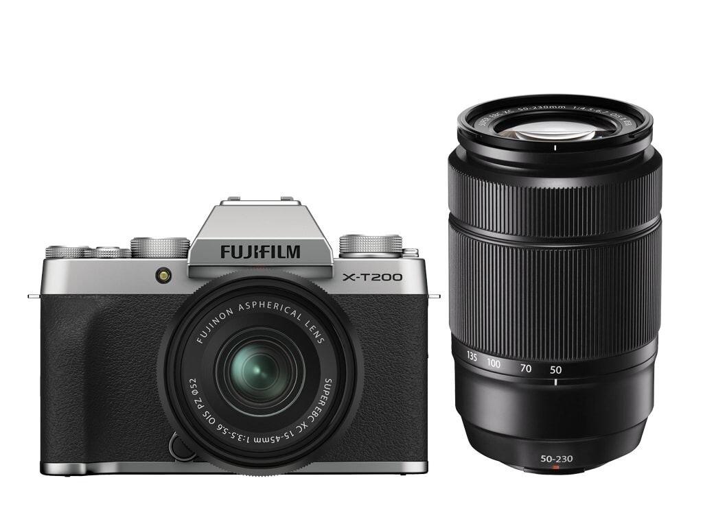 Fujifilm X-T200 Silber inkl. XC 15-45mm 1:3,5-5,6 OIS PZ + Fujifilm XC 50-230mm 1:4,5-6,7 OIS II