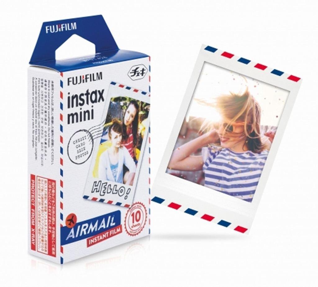 Fujifilm Instax Mini Sofortbildfilm Blue Marble für 10 Aufnahmen
