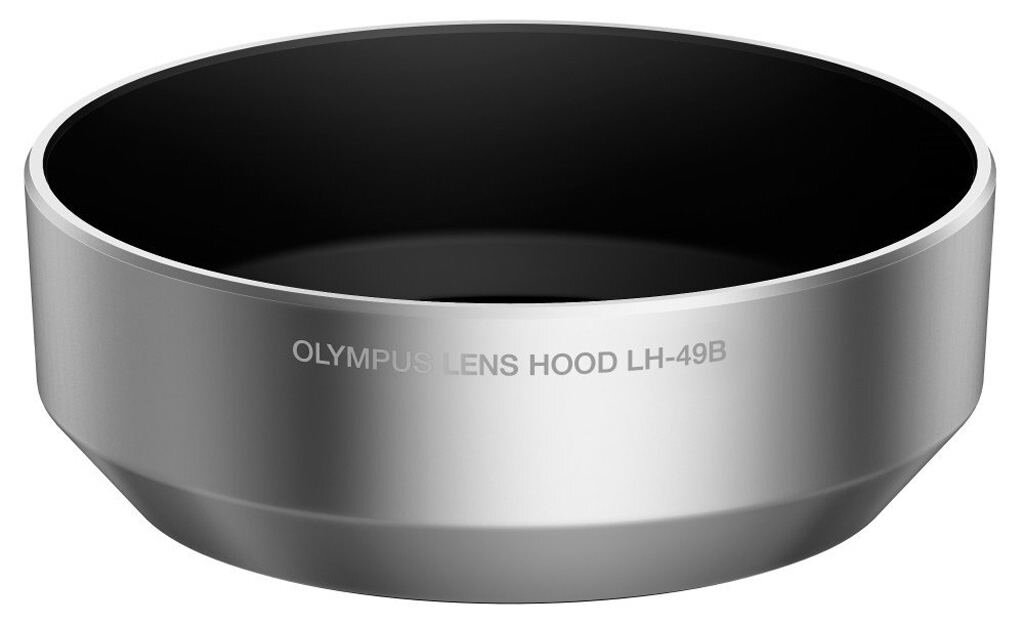 Olympus Gegenlichtblende LH-49B silber f. 25mm 1:1.8